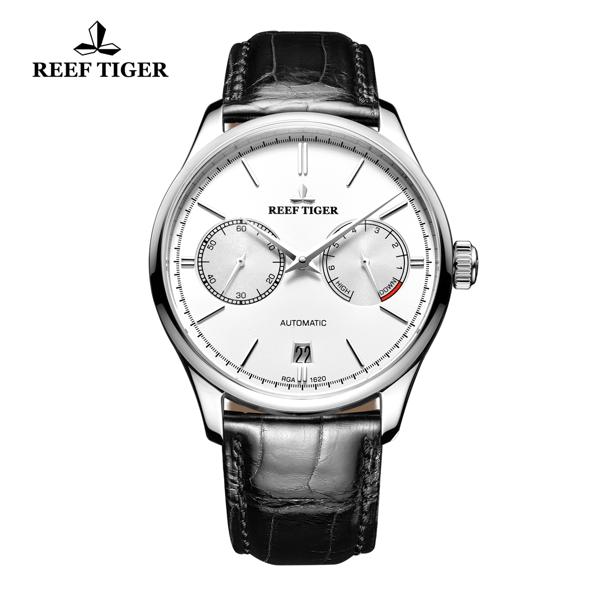 Reef Tiger Claiss Watch Automatic Steel Case White Dial RGA1620-YWB