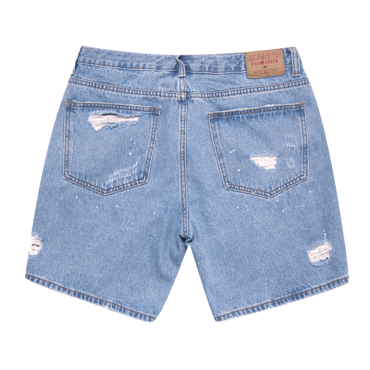 HELLEN&WOODY/H&W Men's Fashion Destroyed Blue Jeans Ripped Destroyed Pants HW1602