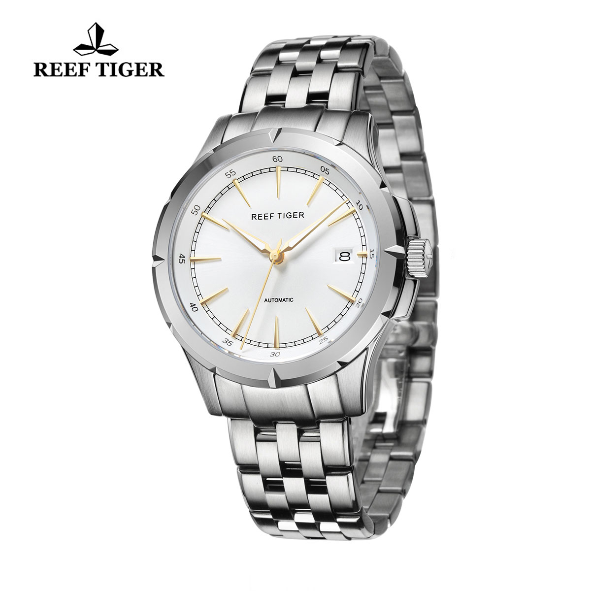 Reef Tiger Spirit Of Liberty Business Watch White Dial Full Stainless Steel RGA819-YWYG