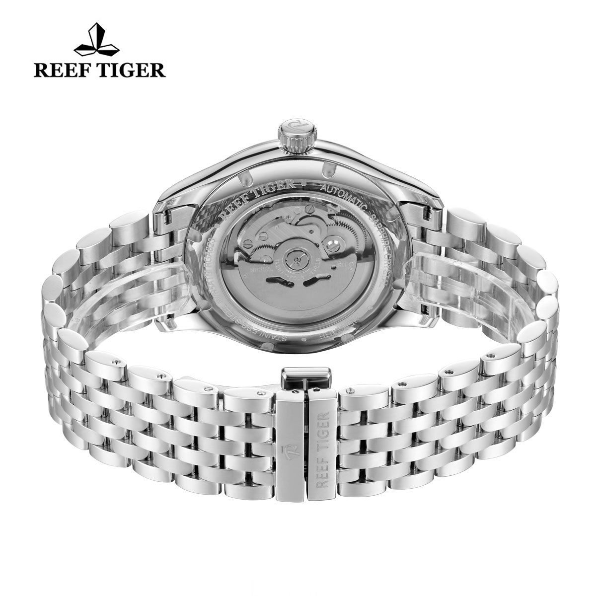 Reef Tiger Heritage II Dress Watch Automatic Blue Dial Steel Case RGA8232-YLY