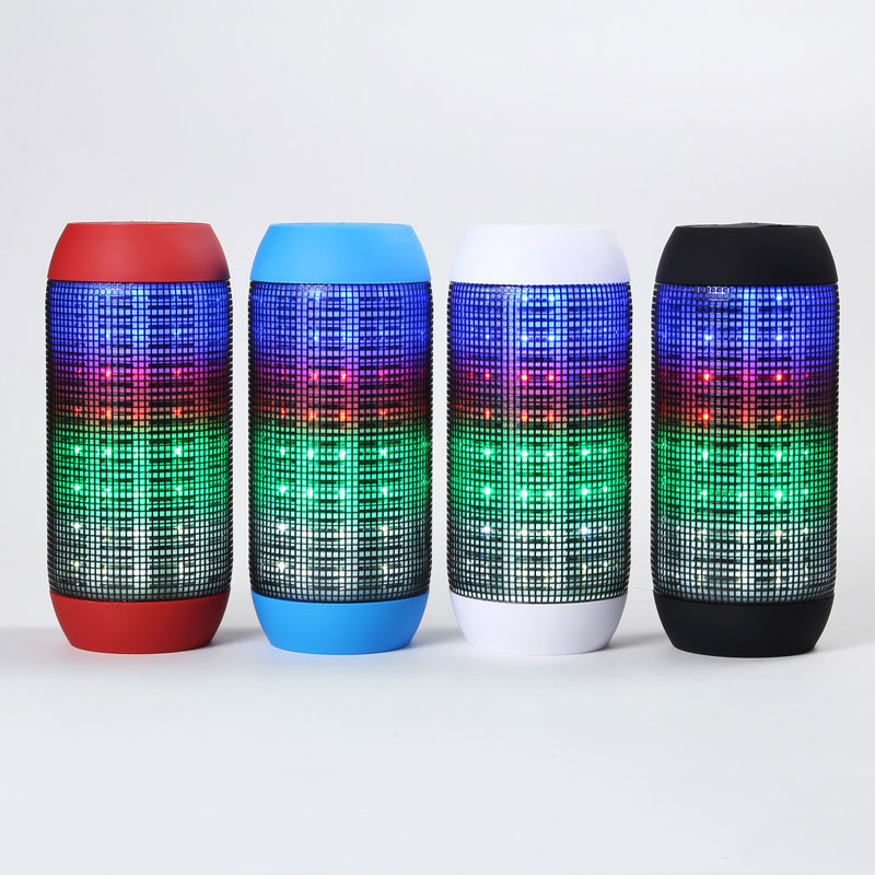 LED Glow Pulse Lighting Portable Wireless Bluetooth Flashing Speaker