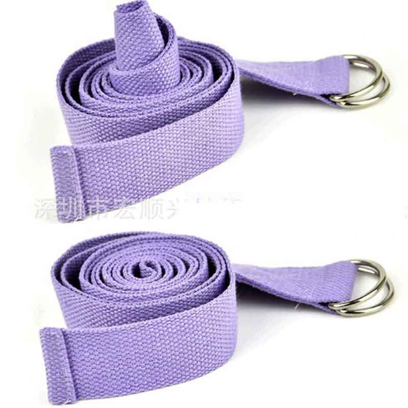Fitness Elastic Yoga Pilates Mat Sling Strap Exercise Stretch Adjustable Belts For Sports Gym Excerise