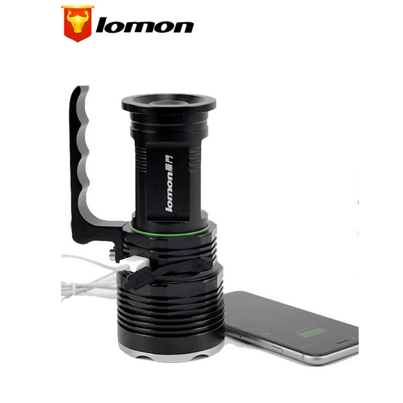 Lomon CREE XML-T6 LED Portable Spotlights 3 Mode Handy Tactical Led Flashlight Super Bright Miner Torch Lamp Q1006