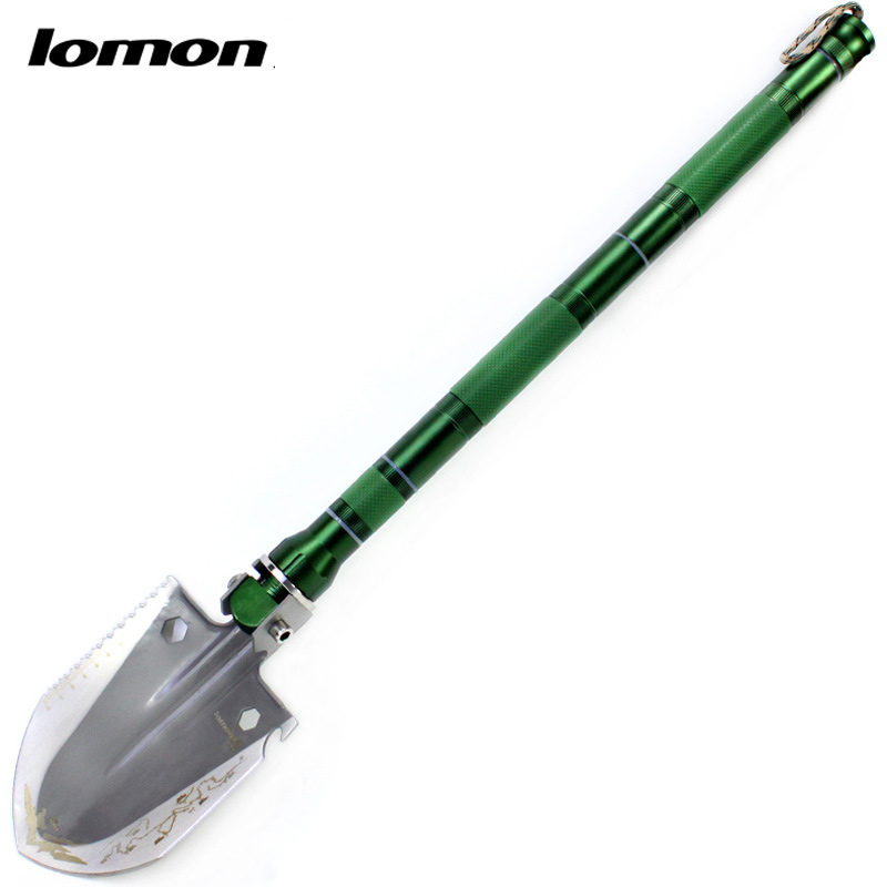 Lomon Portable Folding Camping Shovel Survival Multi-function Shovel