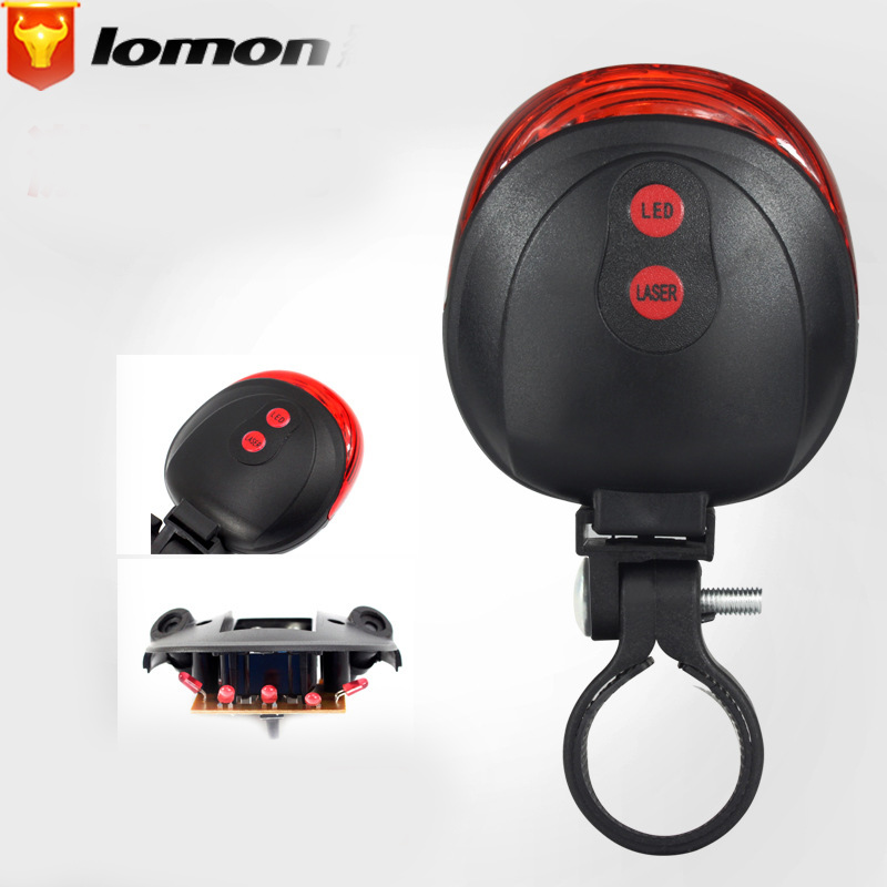 Lomon Mountain Road Bike Cycling Tail Light Waterproof Warning Lamp Q2017