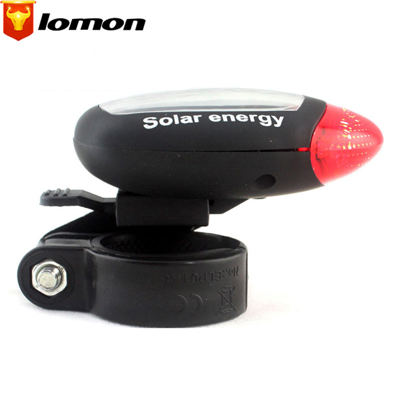 Lomon LED Mountain Bike Lights Bicycle Cycling Equipment Bicycle Solar Taillights Q2002