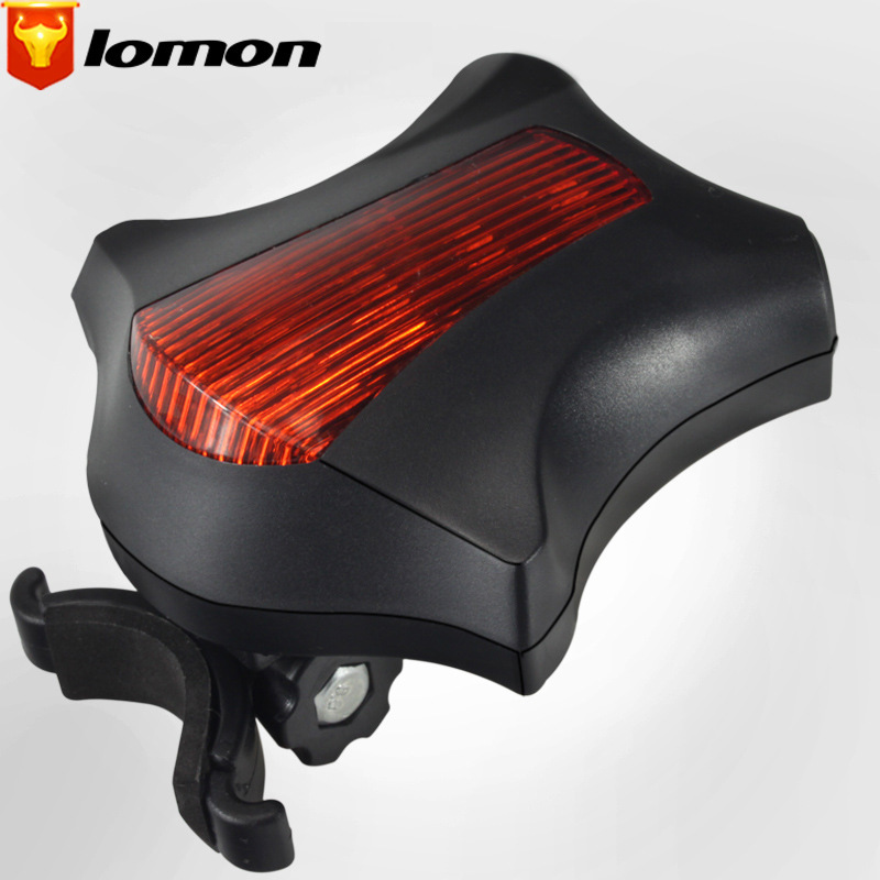 Lomon Bicycle Safety Warning Light Bicycle Light 5 LED Parallel Line Laser Taillight Q2032