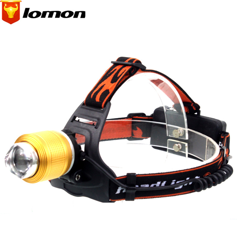 Lomon T6 Rechargeable Headlamps Blue/White Light Headlights Hunting Bicycle Headlights Q3006