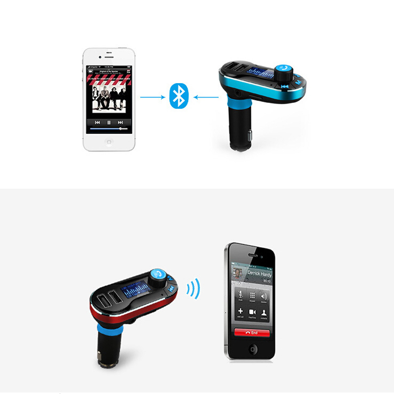 Top Quality Wireless Hands Free Bluetooth FM Transmitter Modulator Car Kit MP3 Player SD USB LCD Car Music Player