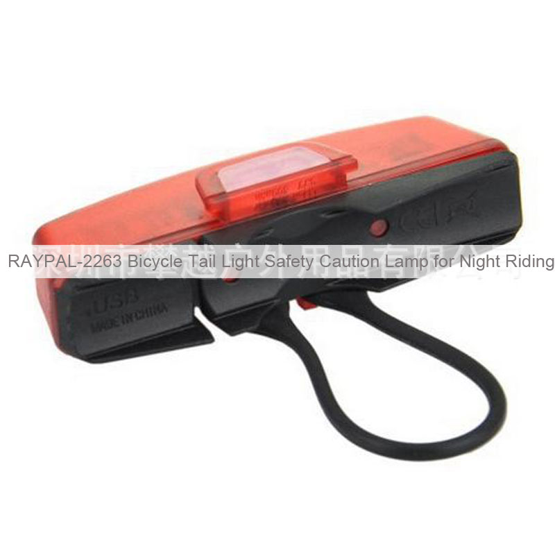 RAYPAL-2263 Bicycle Tail Light Safety Caution Lamp for Night Riding
