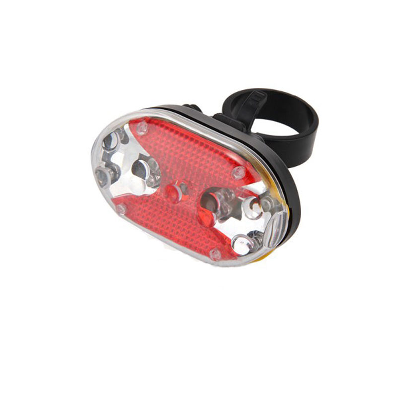 Bicycle Tail Light Safety Caution Lamp for Night Riding 5LED