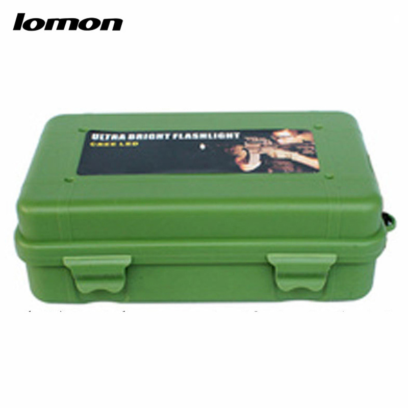 Lomon Flashlight Small Plastic Tool Boxes Home Storage Boxes in Black/Green P4
