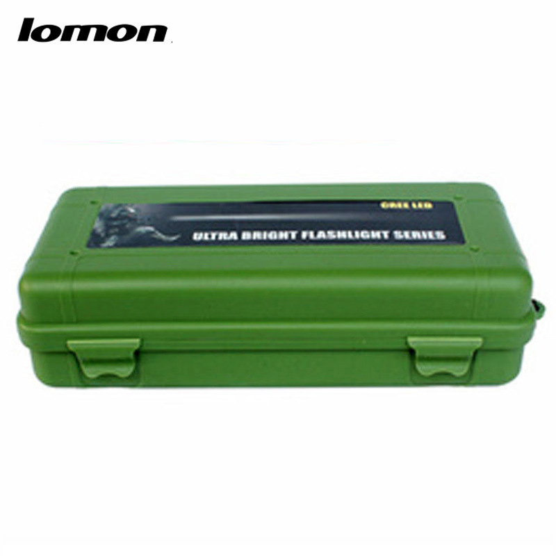 Lomon Flashlight Small Plastic Tool Boxes Home Storage Boxes in Black/Green P5