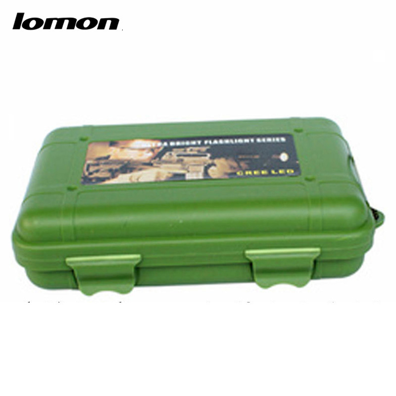 Lomon Flashlight Small Plastic Tool Boxes Home Storage Boxes in Black/Green 5 Size For Choice P1