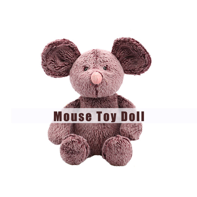 Brown Mouse Plush Toy Cute Stuffed Animals Toys for Kids Gifts