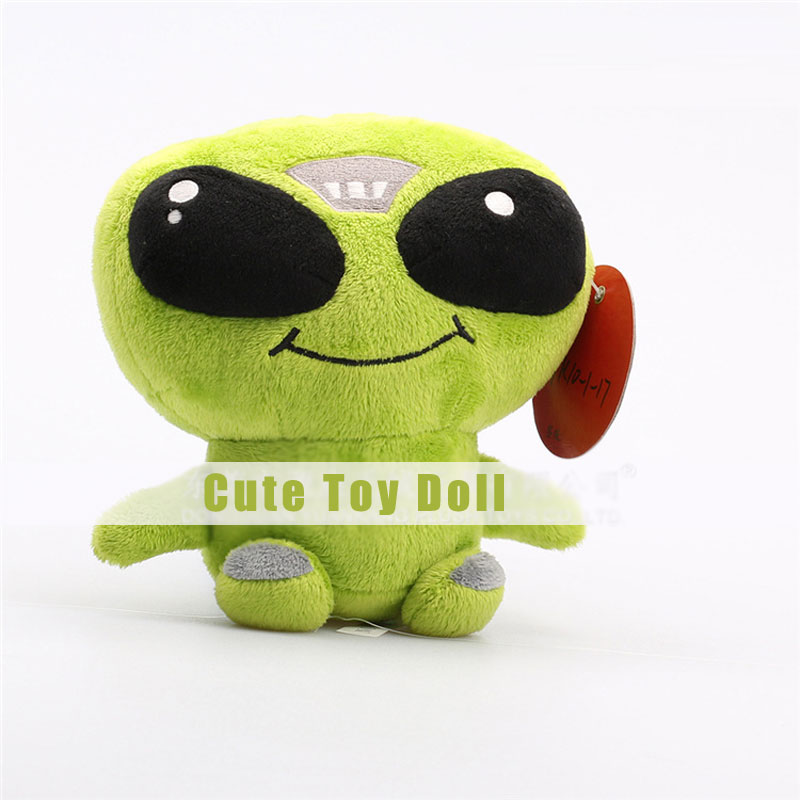 Green Cute Big Eyes Plush Toys Cartoon Dolls for Children's Gift