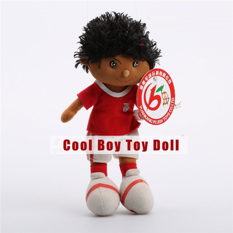 Cool Boy with Ball Uniform Plush Toys Staffed Character Dolls
