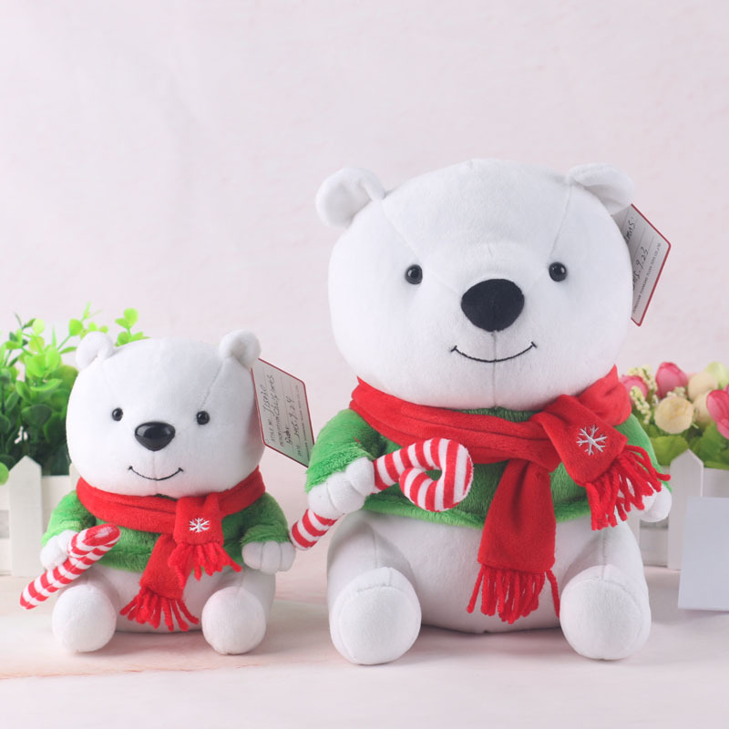 Lovely Bear Plush Toys with Scarf Soft Kids Toys Birthday Gifts