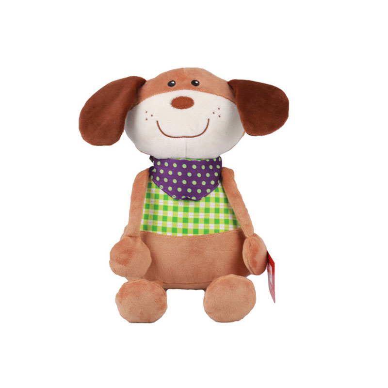 Sitting Plush Dog Doll Soft Toys Stuffed Animals Toys For Birthday Kids' Gifts