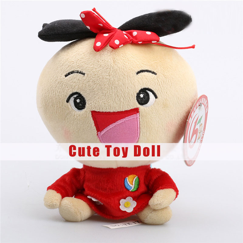 Cute Big Eyes Doll with Red Clothes for Children Stuffed and Plush Toys