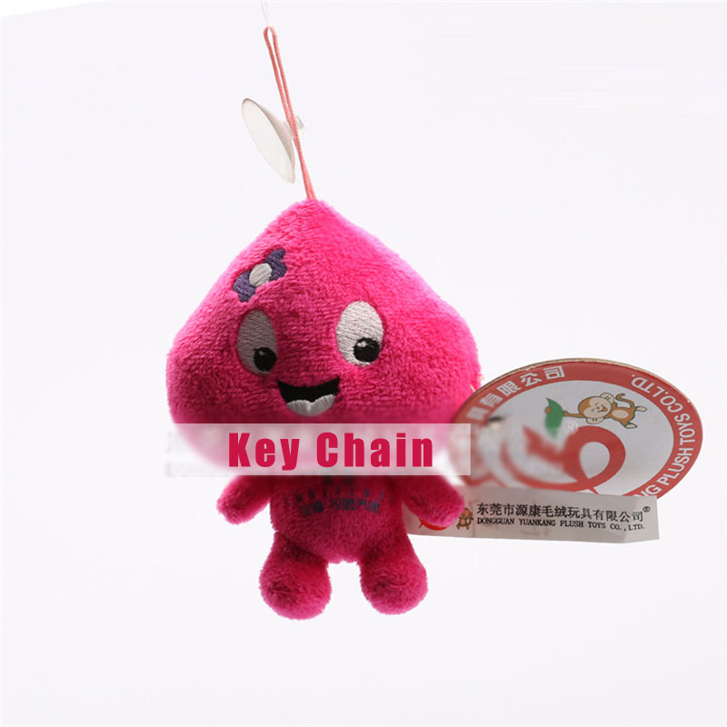 Rose Red Dolls Toy Key Chain With Suction Cups For Key Ring Key Holder