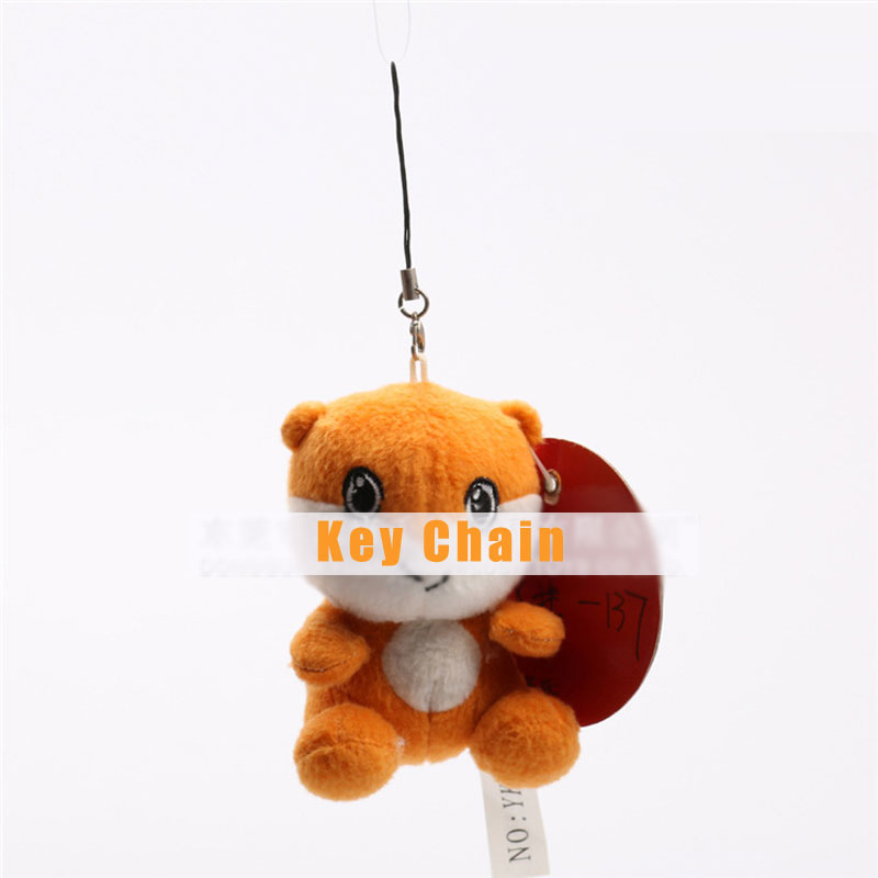 Cute Big Eyes Brown Doll Key Ring Kids Toy Birthday Gift