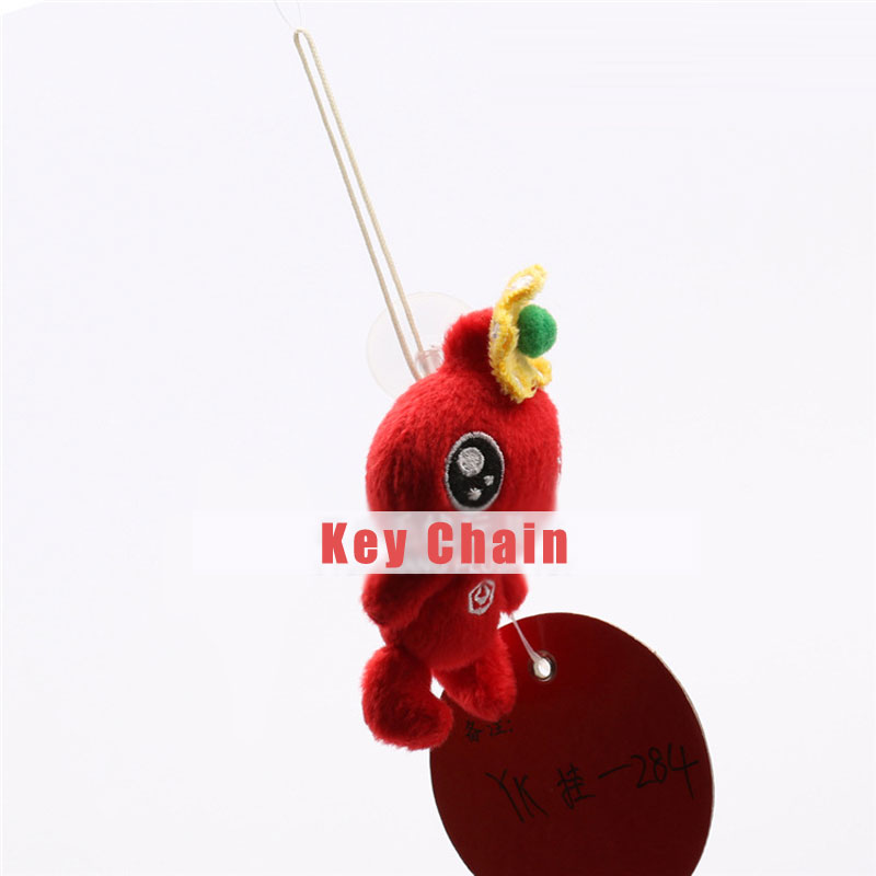 Red Big Eyes Dolls Toy Key Chain With Suction Cups