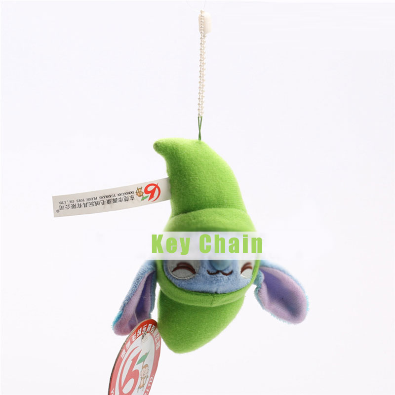 Green Plush Toy Doll Car Key Chain Bag Hang Key Ring