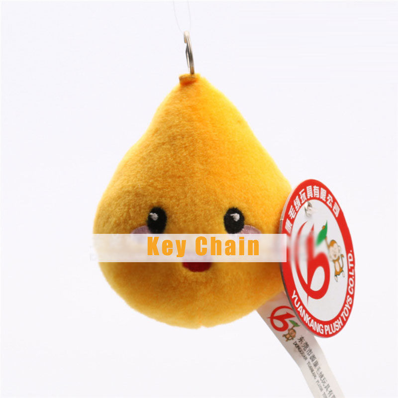 Yellow Pear Plush Toy Doll Keychain Kawaii Stuffed Fruit Toys