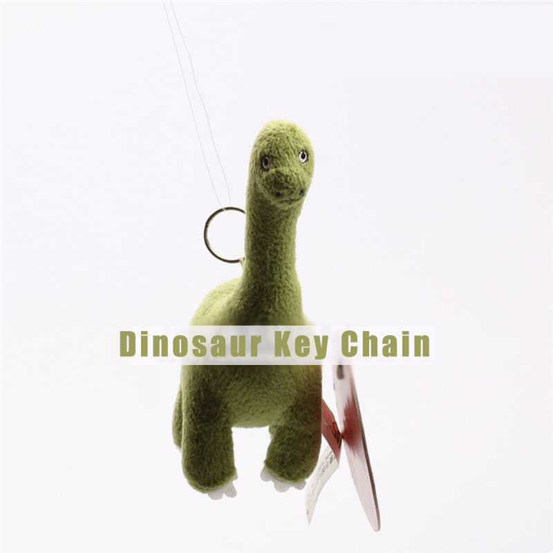 Lovely Soft Dinosaur Key Chain Design Plush Stuffed Doll For Kids
