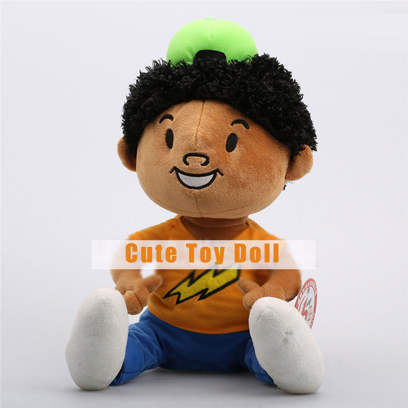 Cute Little Boy With Clothes And Green Hat Plush Toys For Kids Gifts