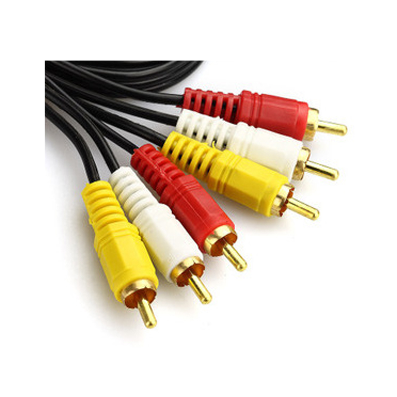 High Quality 1.5M Digital Audio Video Cable Wire 3 pairs 3AV Line three on three Lotus 6 Lotus
