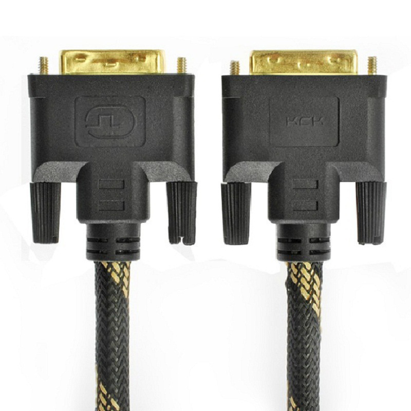 High Speed DVI to DVI Cable 1.5M DVI-D 24+1 Pin Male to Male M/M Signal Gold plated Magnetic Ring Double Ferrite Cores