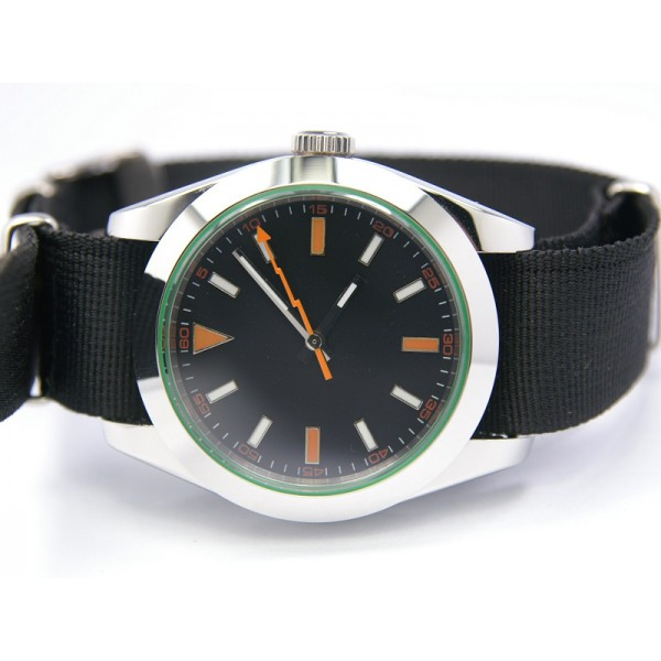 Black Dial Orange Hand(Nylon Strap) ( +$10.00 )