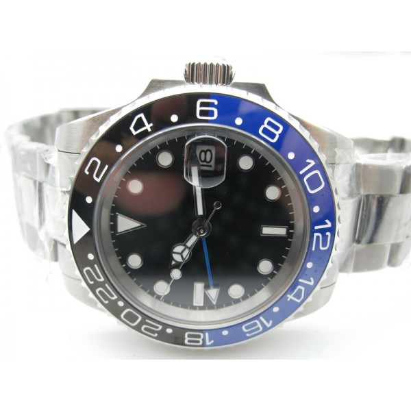 Steel Black&Blue Bezel ( +$10.00 )