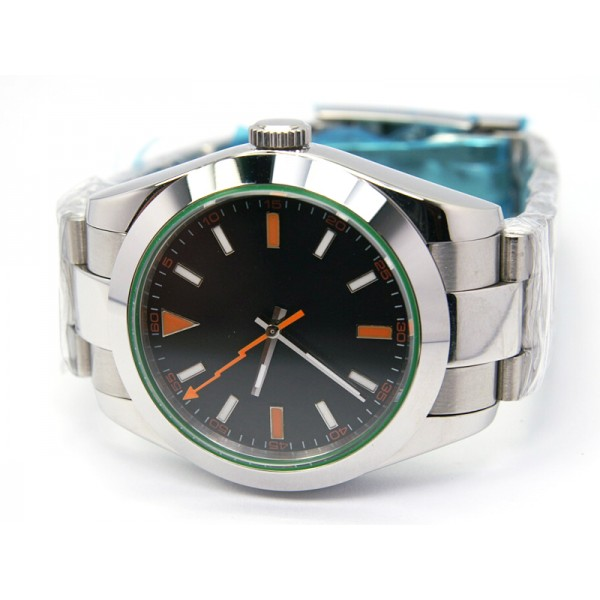 Black Dial Orange Hand(Steel Bracelet) ( +$10.00 )