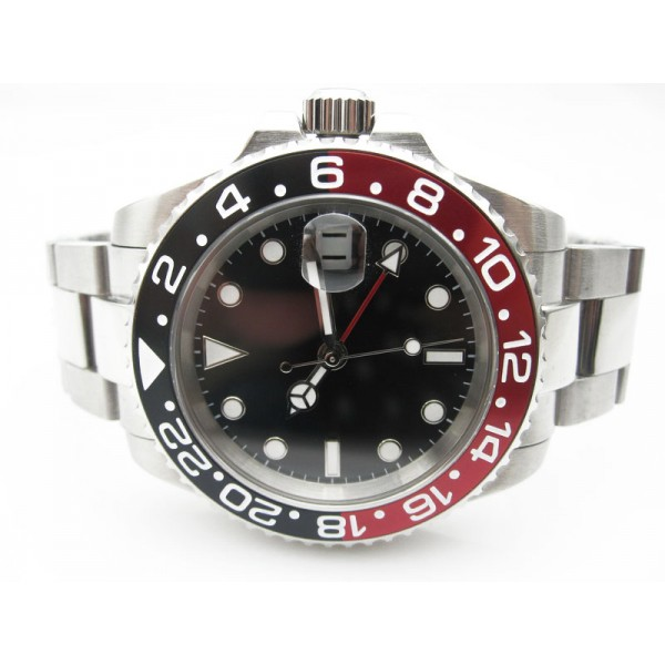 Steel Black&Red Bezel