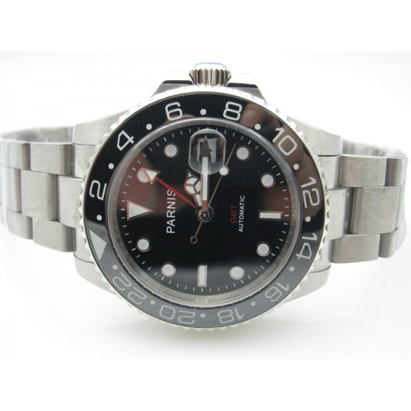 Steel Black Dial(Red Hand) ( +$10.00 )