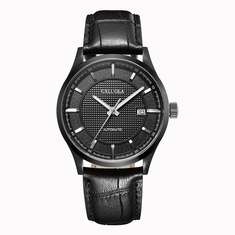 Black PVD Black Dial Leather ( +$5.00 )