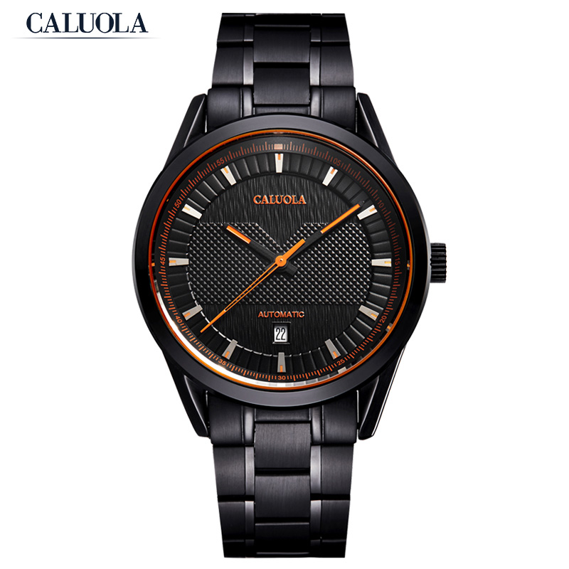 Caluola Fashion Men Watch Automatic Date Business Watch CA1144MM