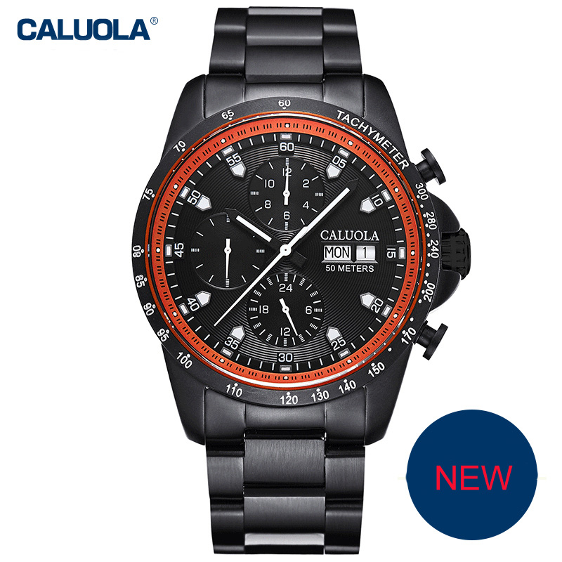 Caluola Fashion Watch Men Watch Automatic Day-Date Month Sport Watch CA1170M