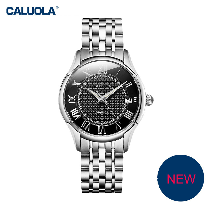 Caluola Automatic Watch Date Waterproof Vintage Women Watch Fashion CA1155MM