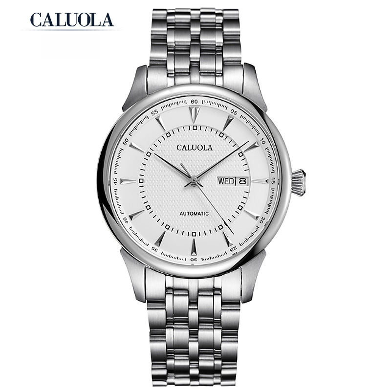Caluola Day-Date Watch Automatic Men Watch Fashion Waterproof CA1124MM