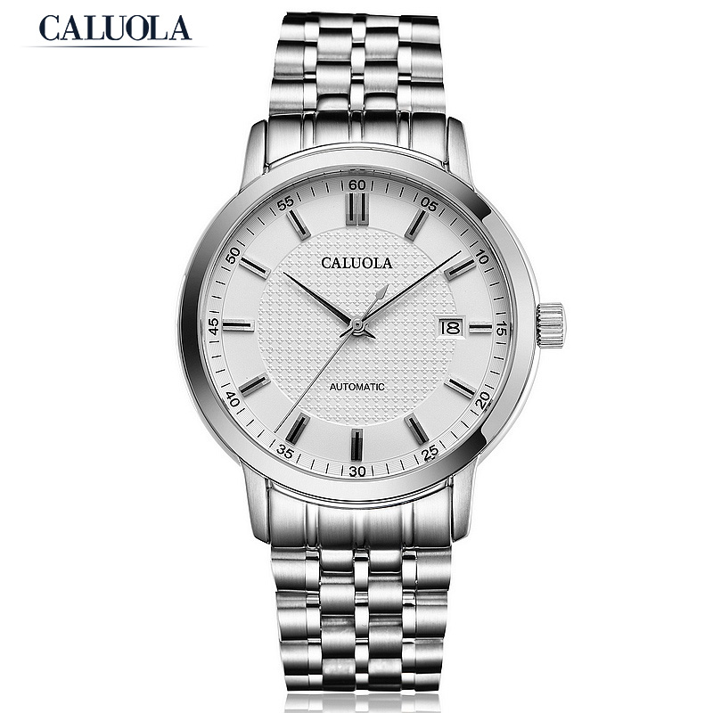 Caluola Automatic Watch Fashion Design Date Men Business Watch CA1148MM
