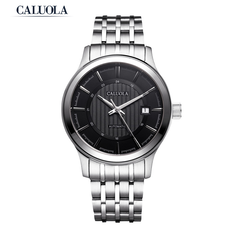 Caluola Automatic Watch Date Business Steel Sport Watch Men Watch CA1104M