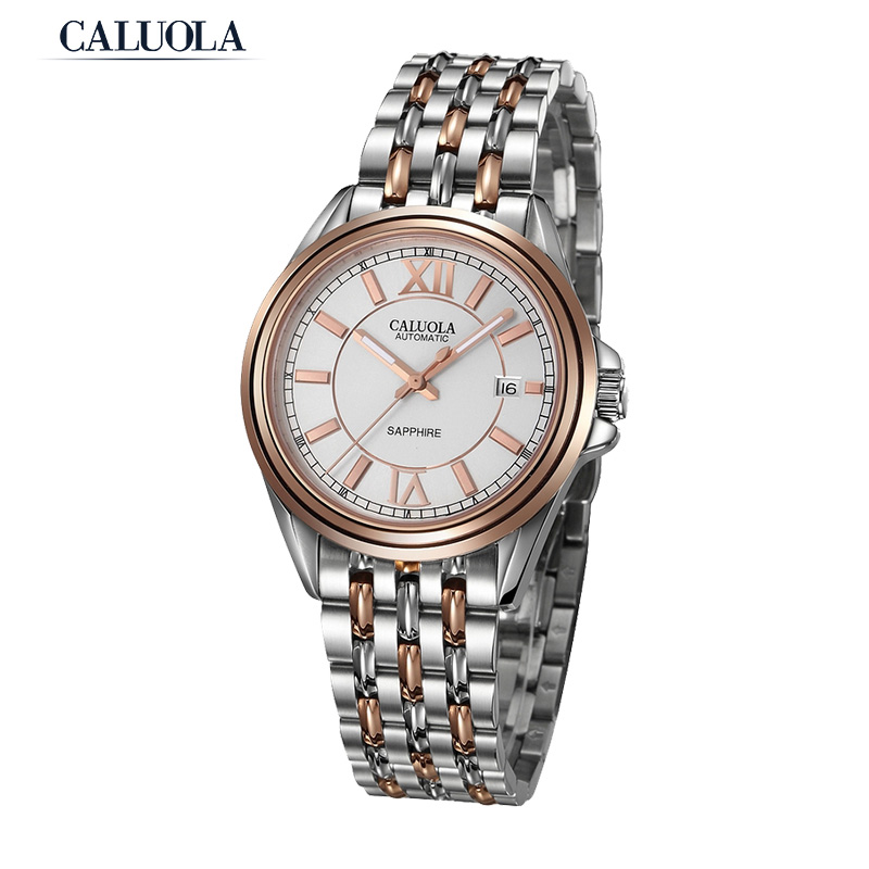 Caluola Business Watch Automatic With Date Men Watch Vintage CA1030MM