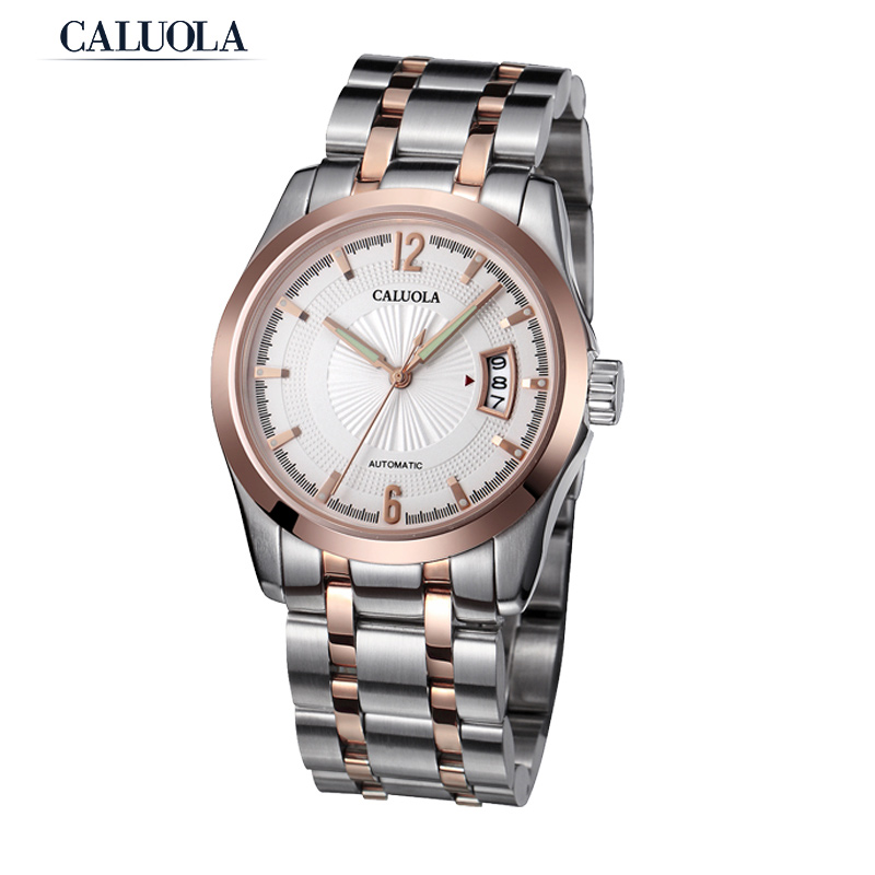 Caluola Men Watch Automatic Date Luminous Sport Watch CA1005