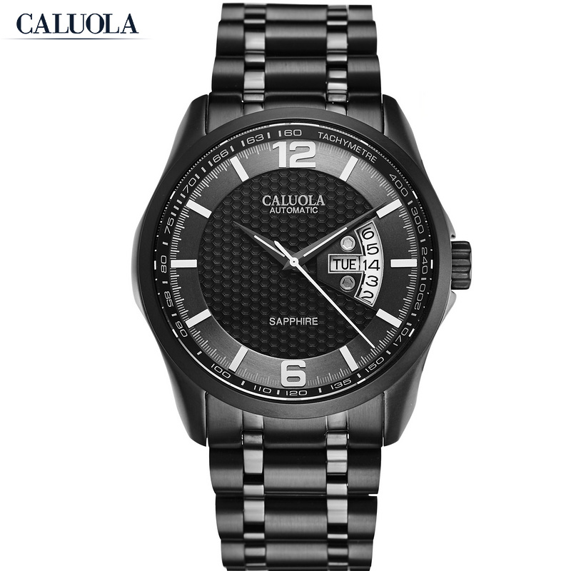 Caluola Men Watch Automatic Day-Date Fashion Watch Business CA1168MM