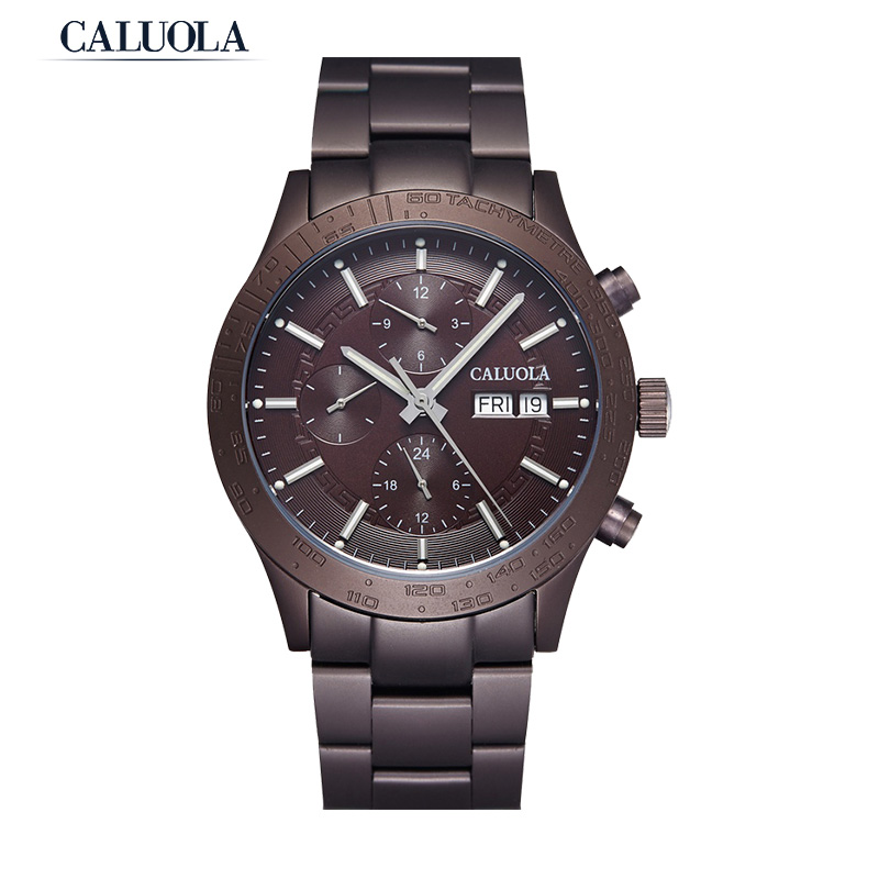 Caluola Automatic Watch With Day-Date Month Year 24-Hour Fashion Men Watch CA1153M