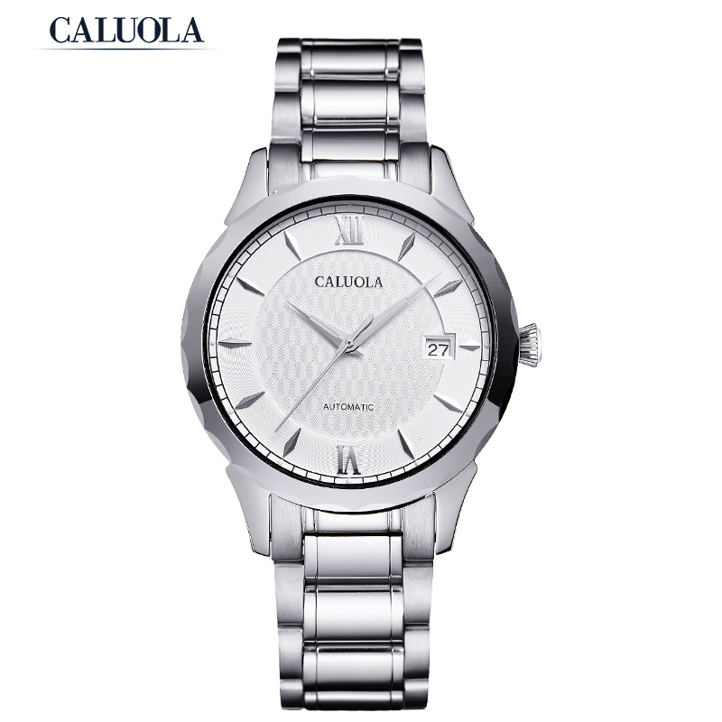 Caluola Men Watch Automatic Sport Date Casual Watch Fashion Steel CA1146MM